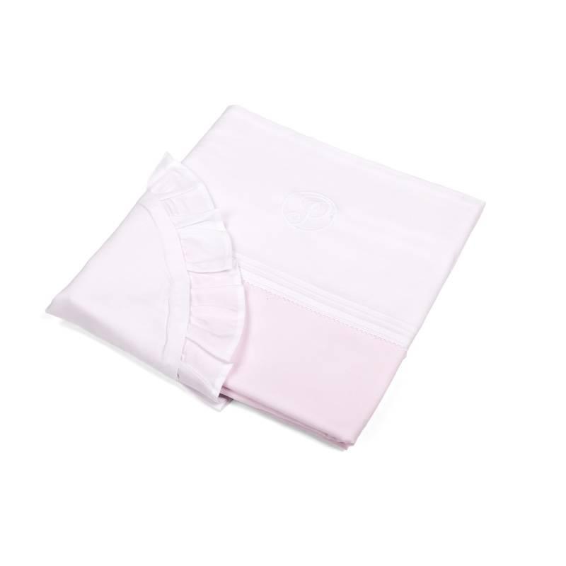 Wieg/box dekbedovertrek & kussensloopje Oxford Soft Pink-2