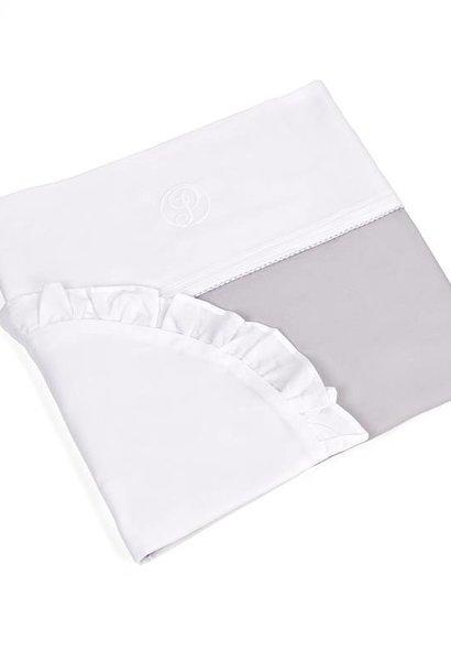 Crib/playpen duvet and pillow case Oxford Grey