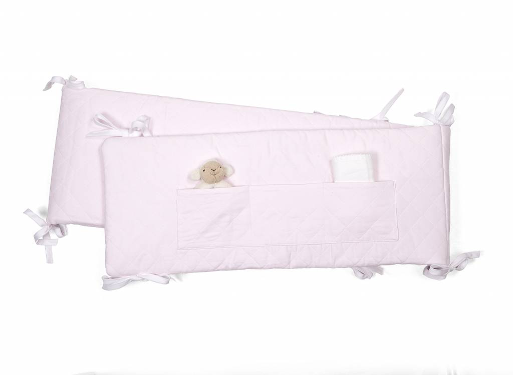 Playpen bumper Oxford Soft Pink-2