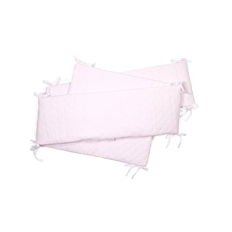 Playpen bumper Oxford Soft Pink-1