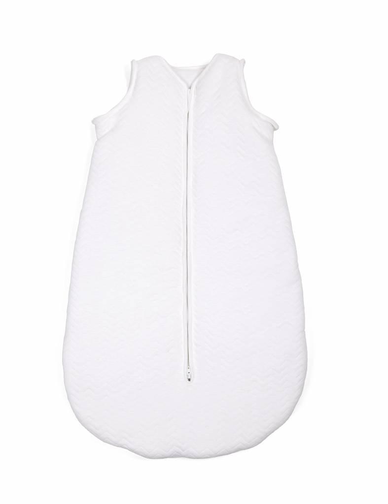 Jersey sleeping bag 70cm Chevron White with detachable sleeves-6