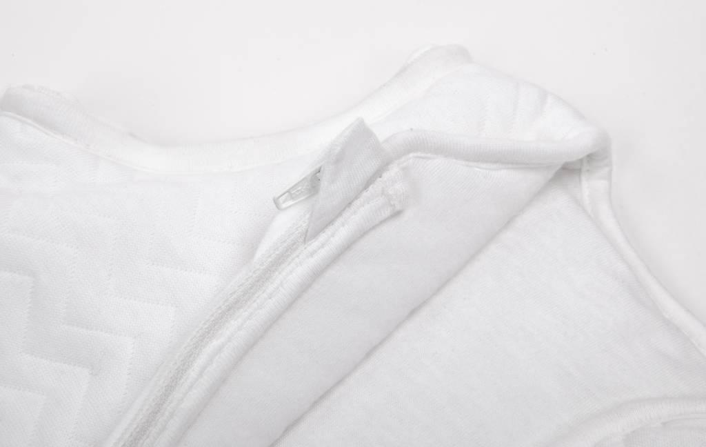 Jersey slaapzak 70cm  Chevron White met afritsbare mouwen-4