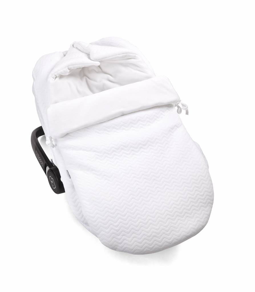 Baby footmuff Chevron White-2
