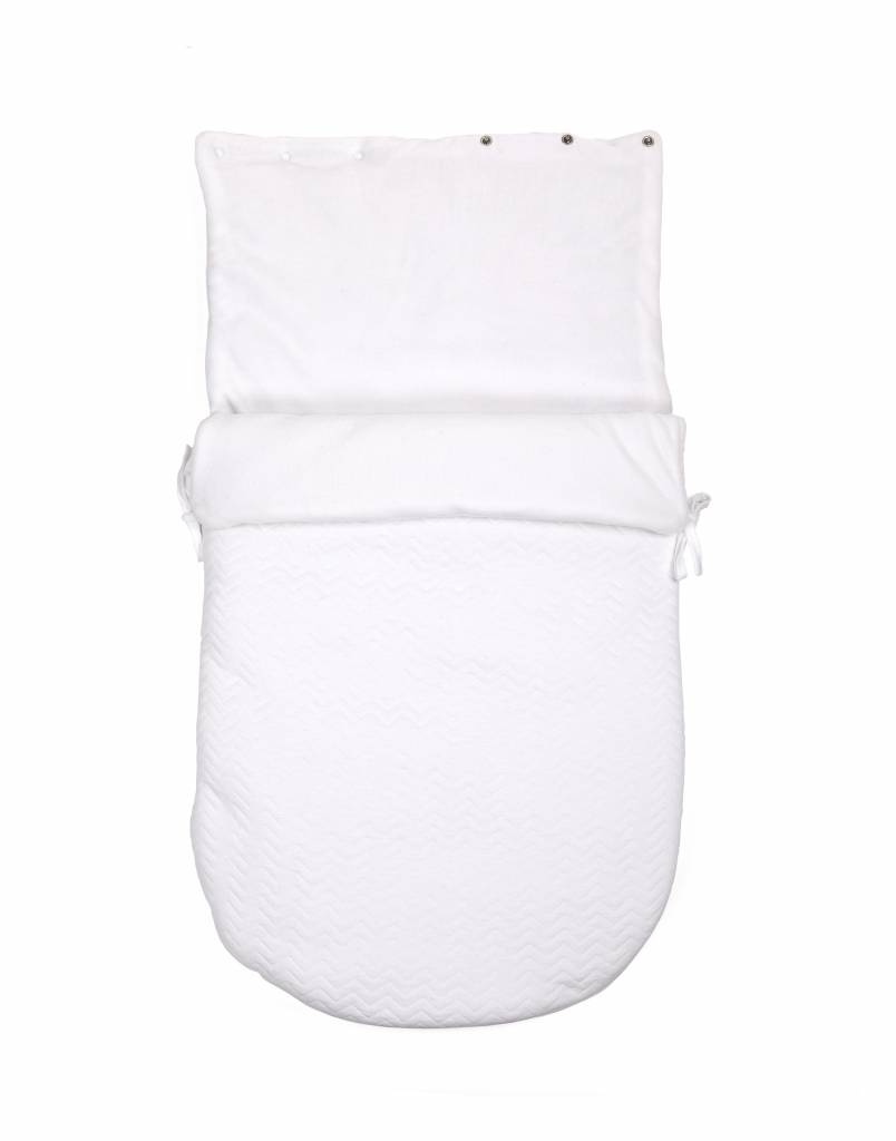 Baby footmuff Chevron White-4