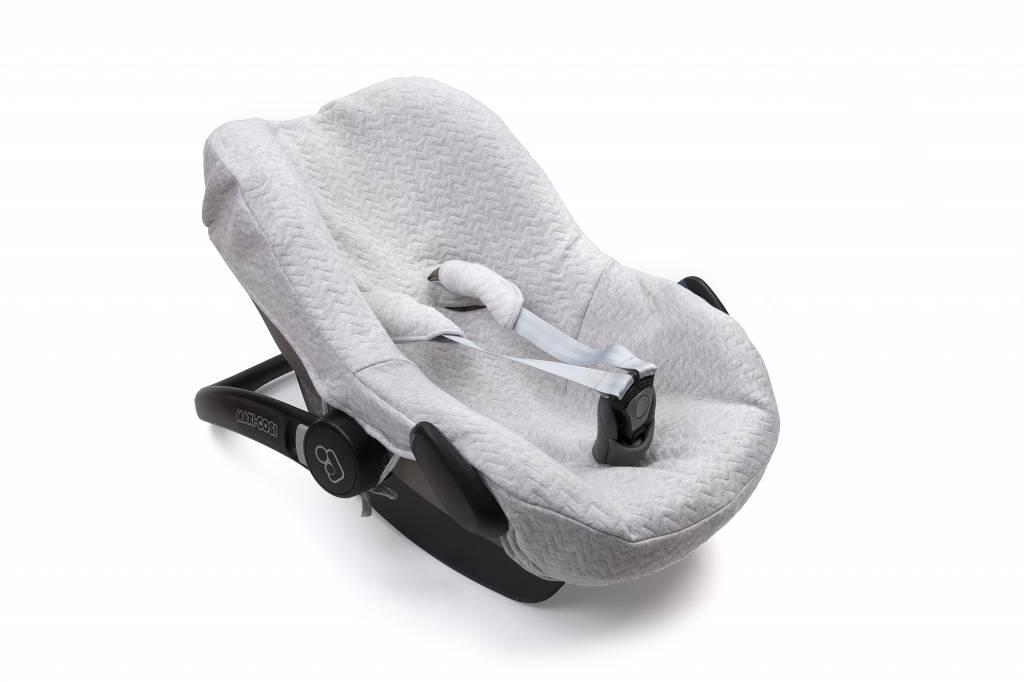 Car seat cover Chevron Light Grey Melange-3