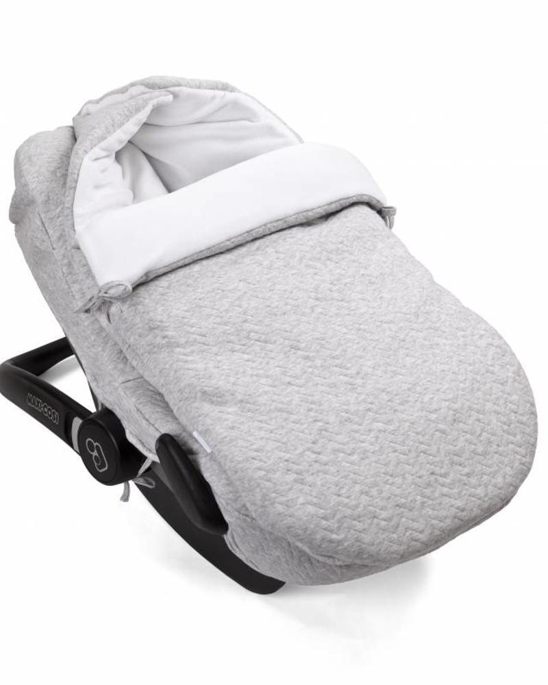 Car seat cover Chevron Light Grey Melange