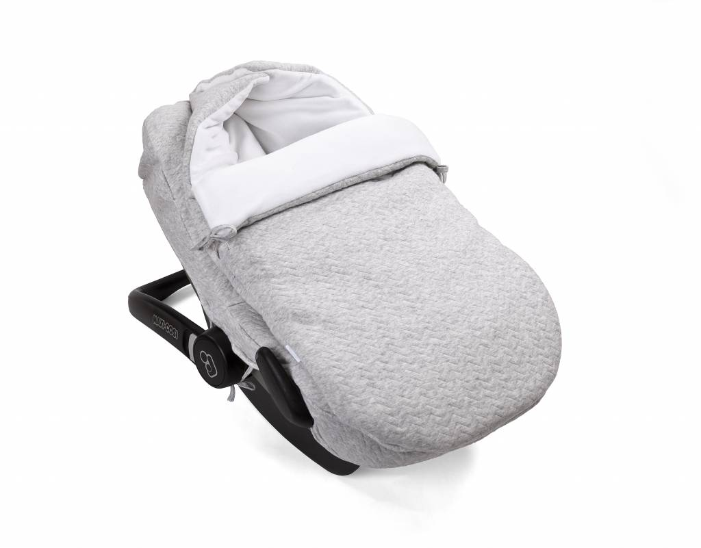 Car seat cover Chevron Light Grey Melange-3