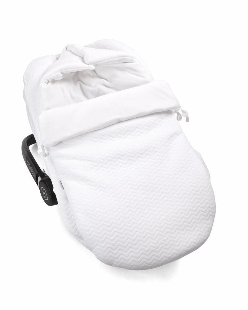 Car seat cover Chevron White