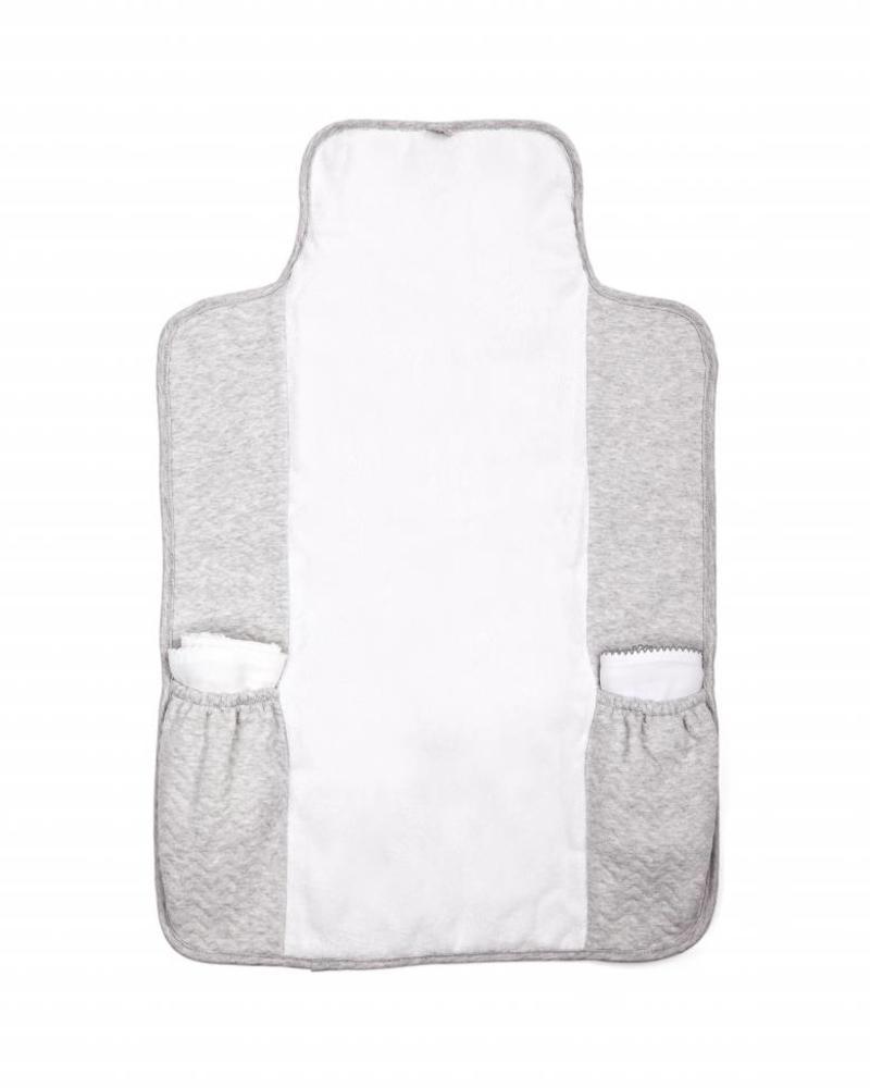 Portable changingmat Chevron Light Grey Melange