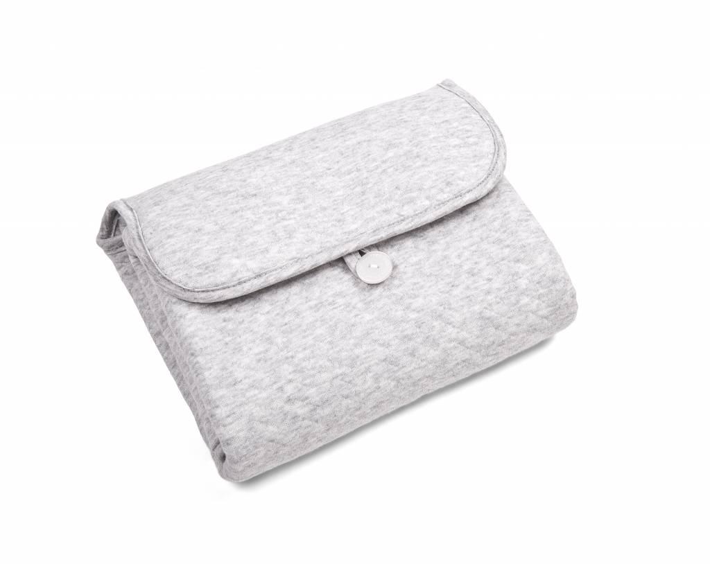Portable changingmat Chevron Light Grey Melange-2