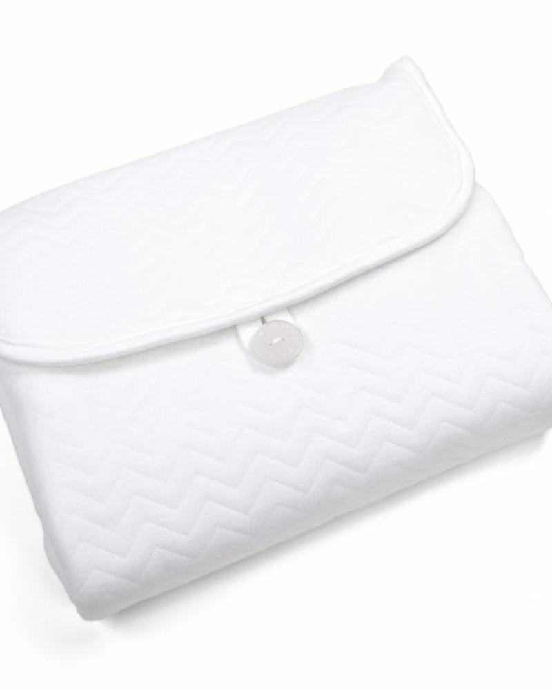 Portable changingmat Chevron White