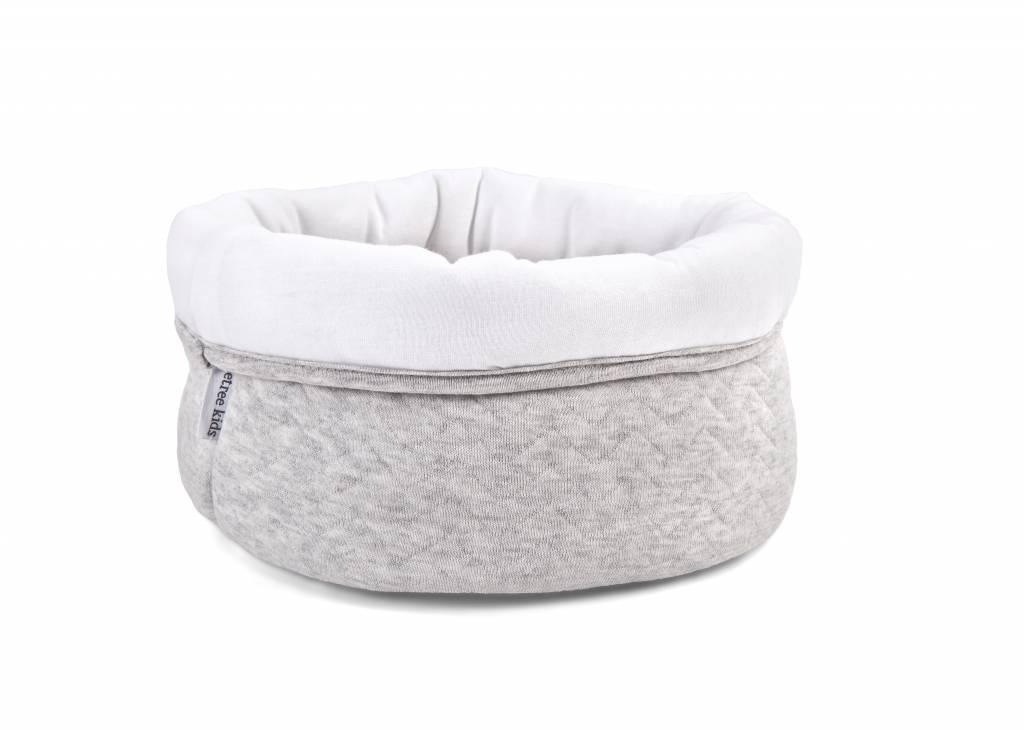 Care basket Chevron Light Grey Melange-2