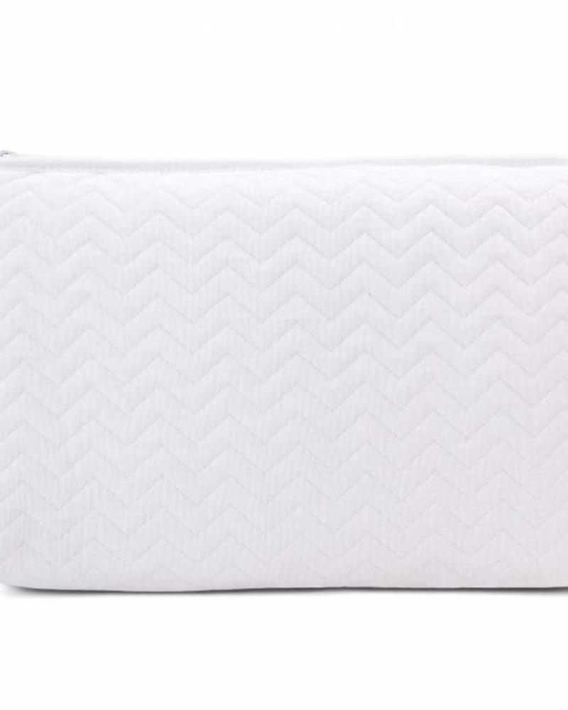 Toiletry bag Chevron White