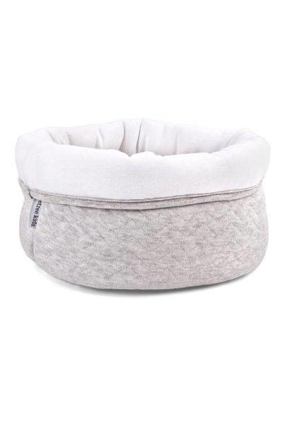 Care basket Chevron Light Grey Melange