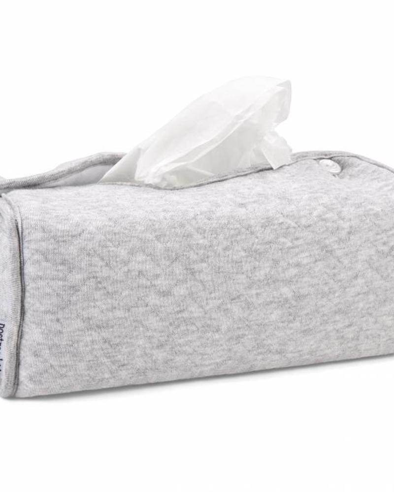 Tissue box hoes Chevron Light Grey Melange