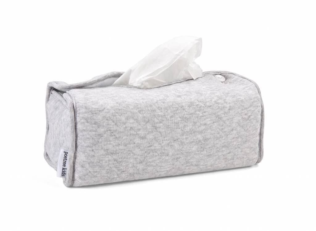 Kleenex Box Cover Chevron Light Grey Melange-3