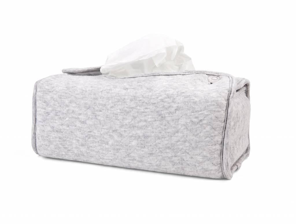 Kleenex Box Cover Chevron Light Grey Melange-4