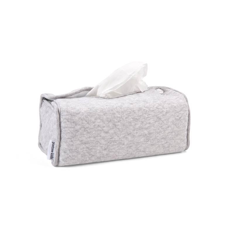 Tissue box hoes Chevron Light Grey Melange-1
