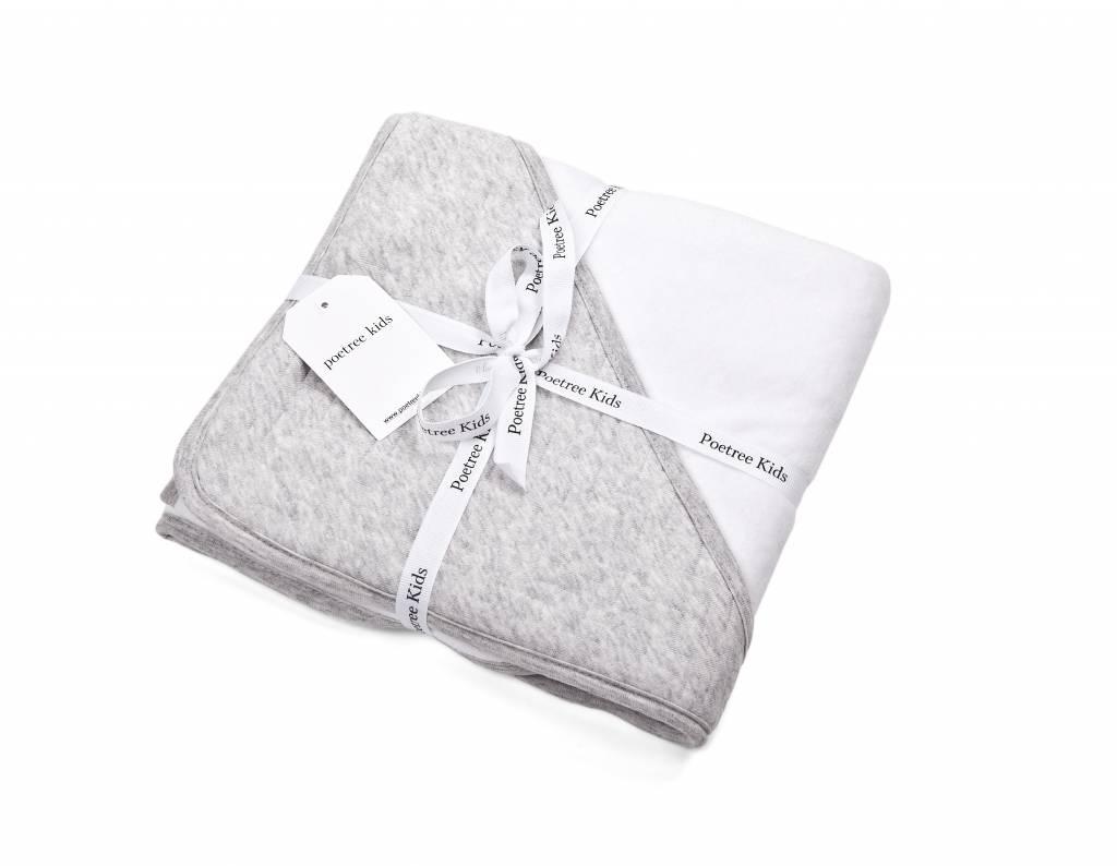 Wrapping blanket Chevron Light Grey Melange-2