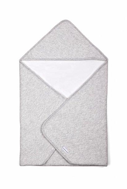 Couverture enveloppante Chevron Light Grey Melange