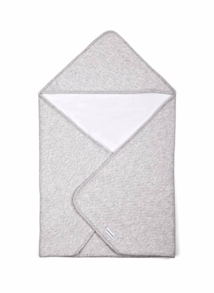 Wrapping blanket Chevron Light Grey Melange-1