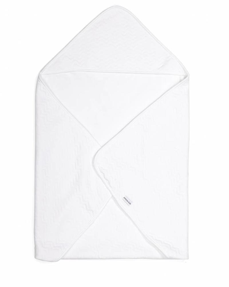 Wrapping blanket Chevron White