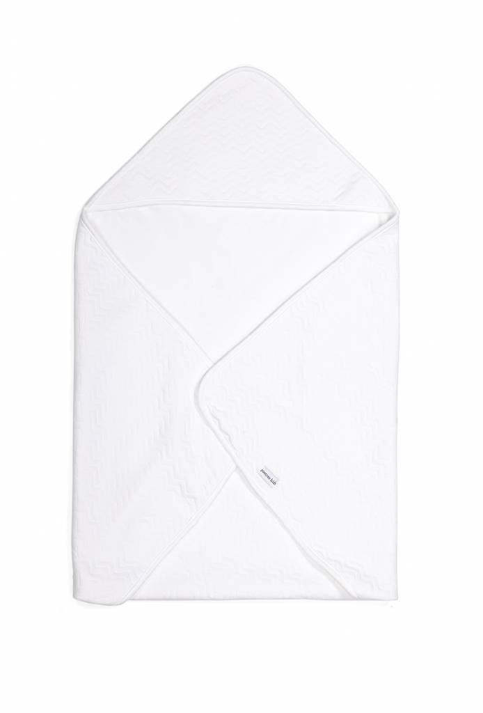 Couverture enveloppante Chevron White-1