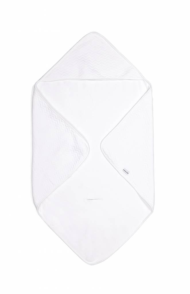 Couverture enveloppante Chevron White-2