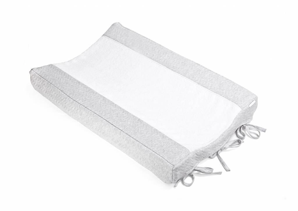 Changing mat cover Chevron Light Grey Melange-2
