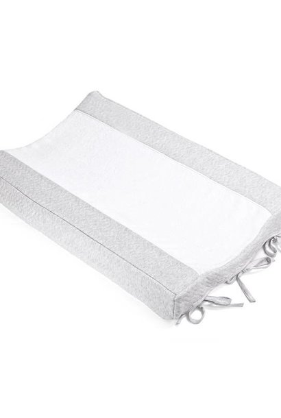 Changing mat cover Chevron Light Grey Melange