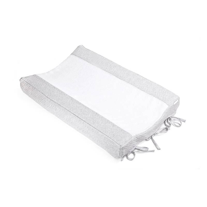 Changing mat cover Chevron Light Grey Melange-1