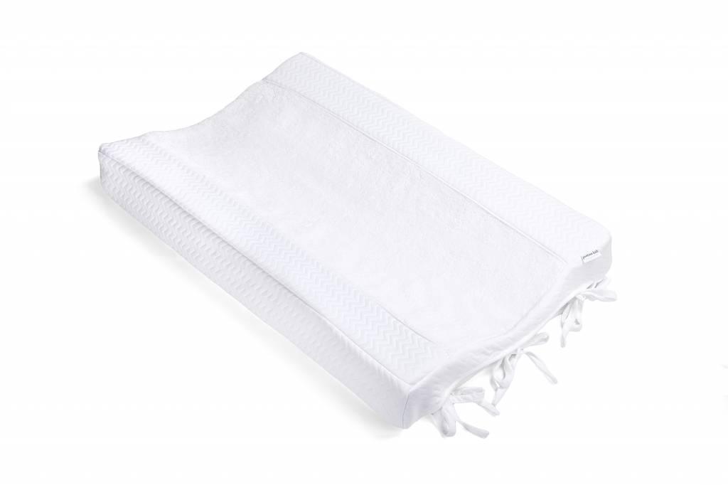 Aankleedkussenhoes Chevron White-3