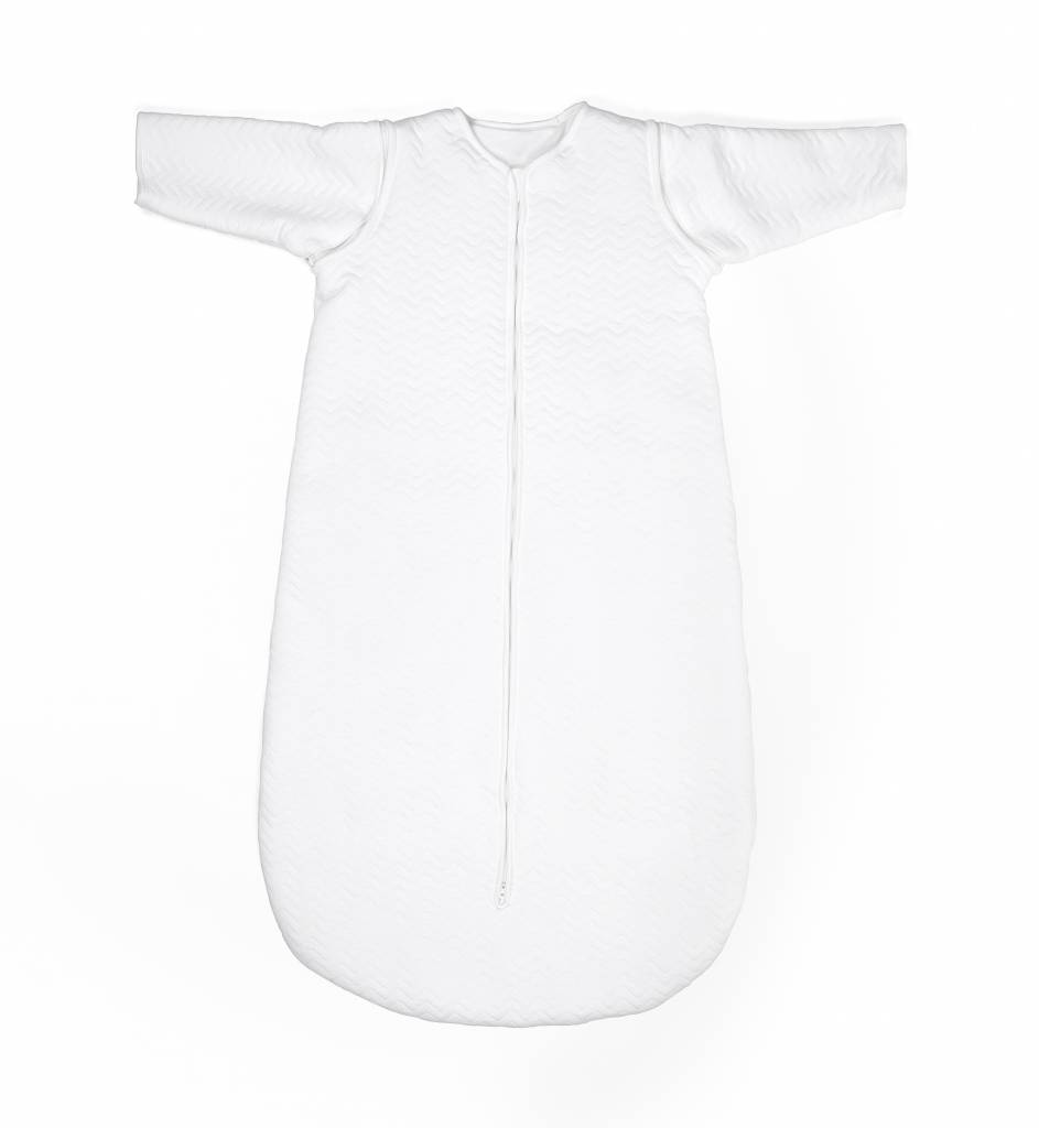 Jersey slaapzak 70cm  Chevron White met afritsbare mouwen-5