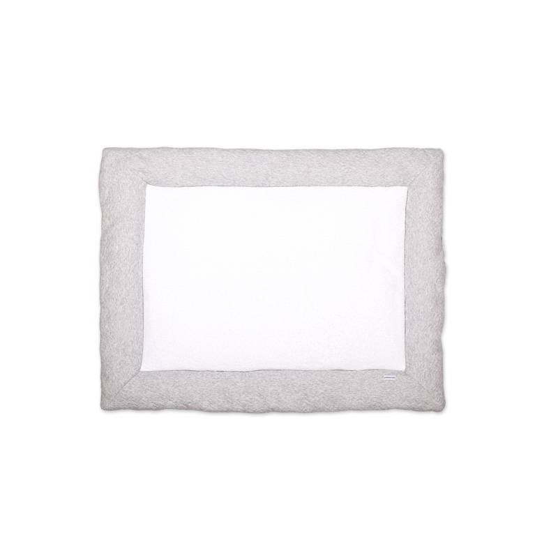 Playpen mat Chevron Light Grey Melange-1
