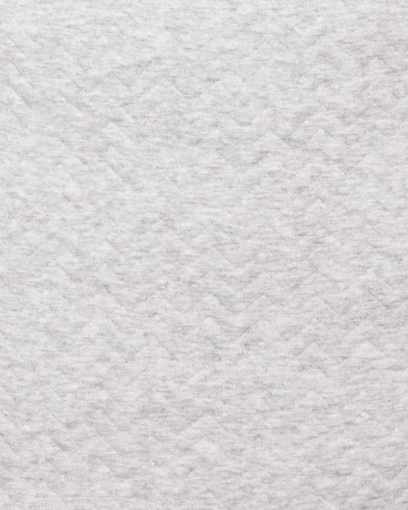 Cot Bumper Chevron Light Grey Melange