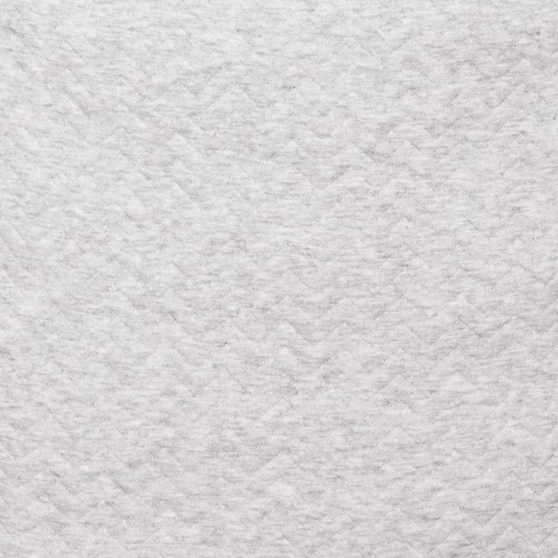 Cot Bumper Chevron Light Grey Melange-3