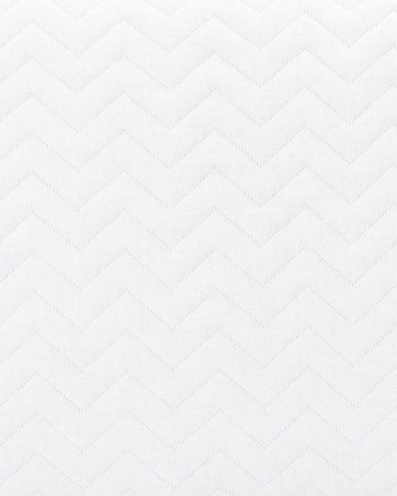 Aankleedkussenhoes Chevron White