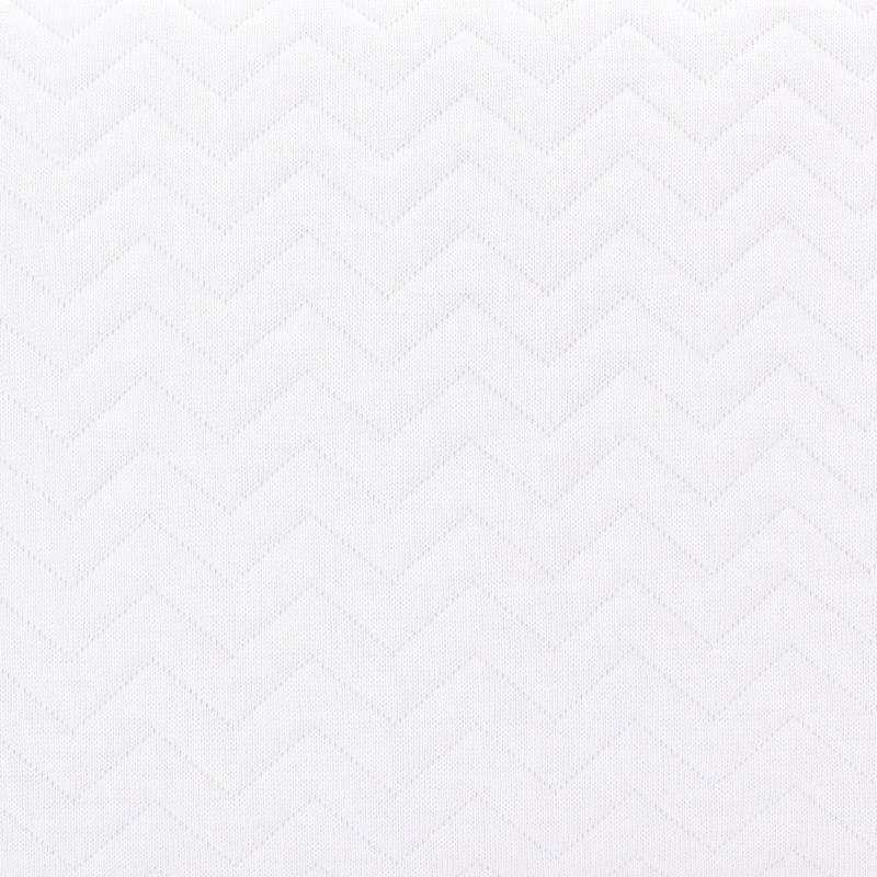 Cot Bumper Chevron White-3
