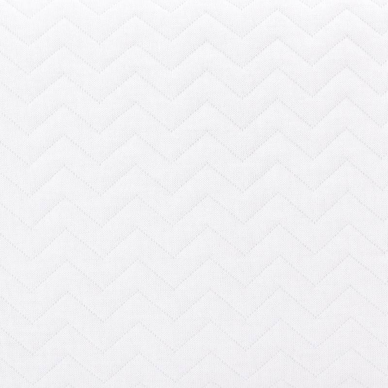 Baby footmuff Chevron White-5