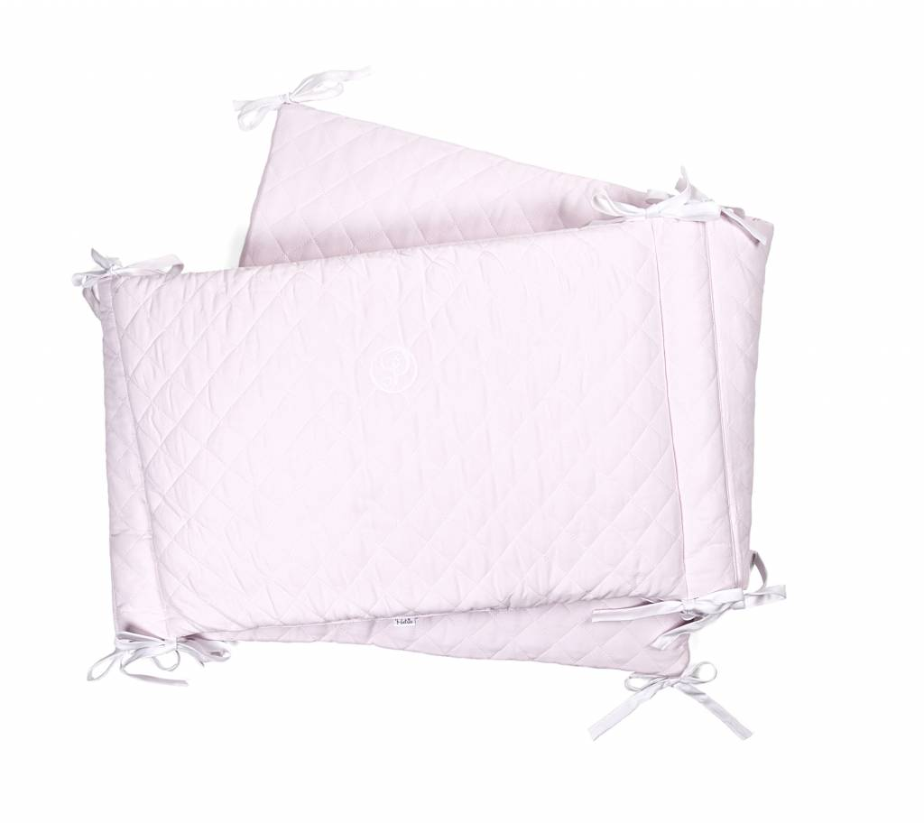 Cot Bumper Oxfort Soft Pink-2