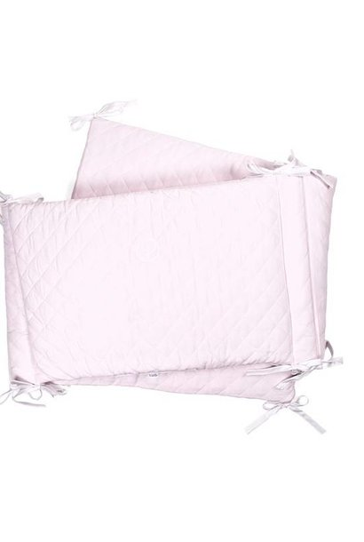 Cot Bumper Oxford Soft Pink