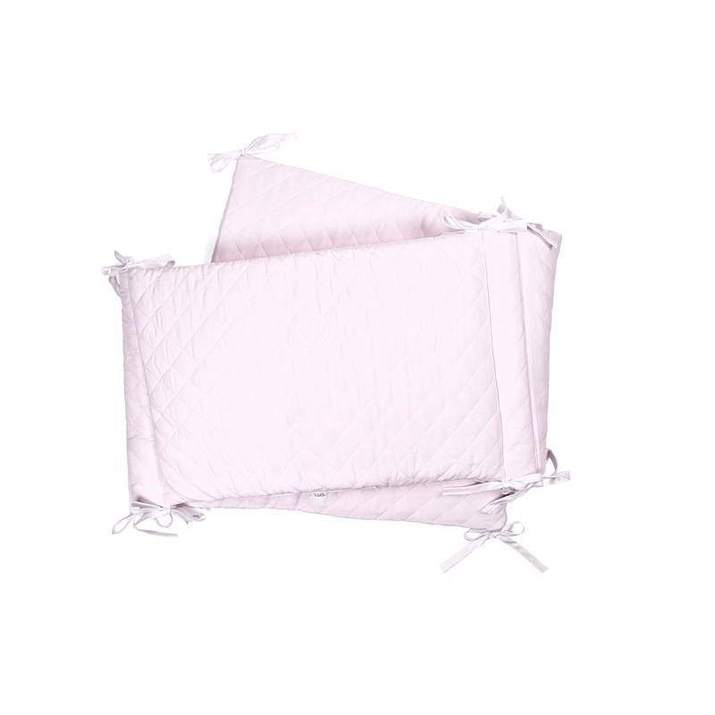 Cot Bumper Oxfort Soft Pink-1
