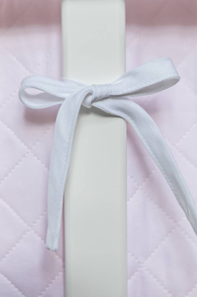 Cot Bumper Oxfort Soft Pink-3