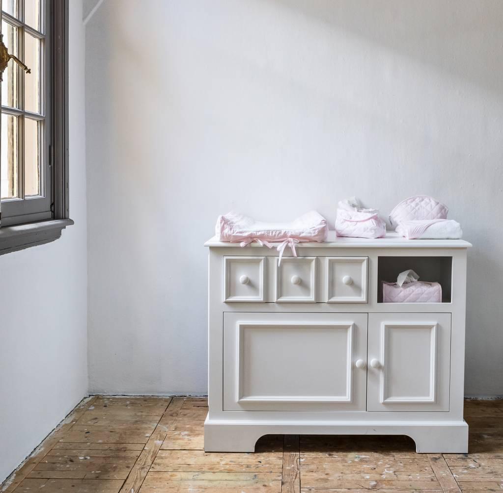 Housse de lingettes pour bébé Oxford Soft Pink-3