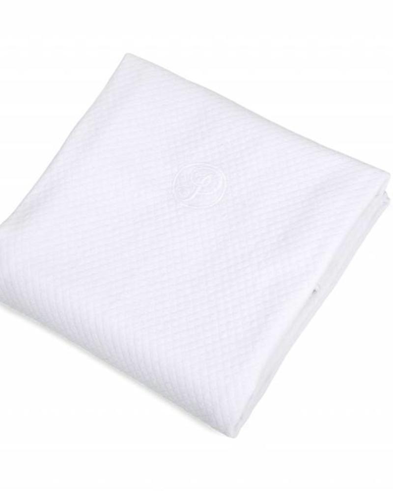 100% Katoenen Gebreide Wiegdeken Serenity White