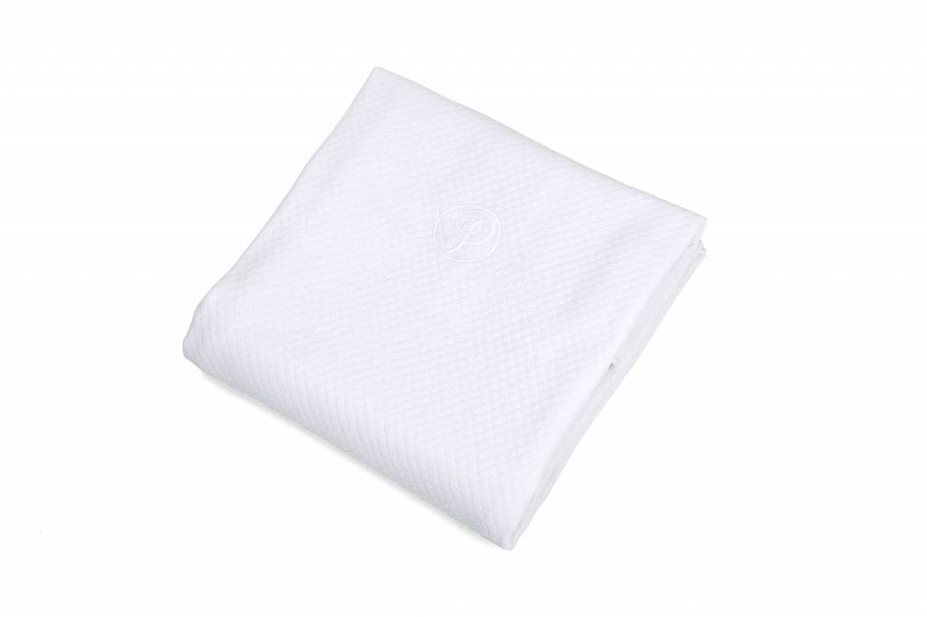 100% Cotton Knitted Crib Blanket  Serenity White-1