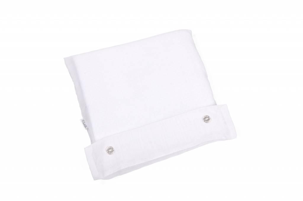 100% Cotton Knitted Crib Blanket  Serenity White-2