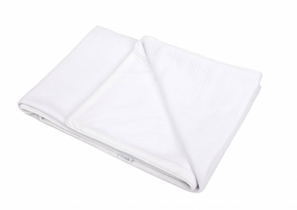 100% Cotton Knitted Crib Blanket  Serenity White-3