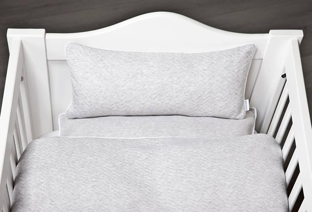 Duvet Cover & Pillow case Chevron Light Grey Melange-4