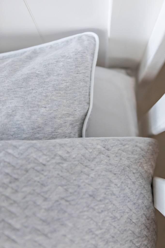 Duvet Cover & Pillow case Chevron Light Grey Melange-5